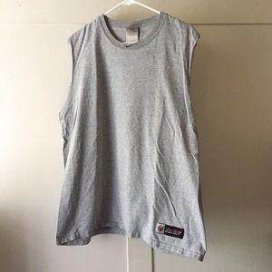 Nike Grey Cotton Short Sleeve Basketball Tank